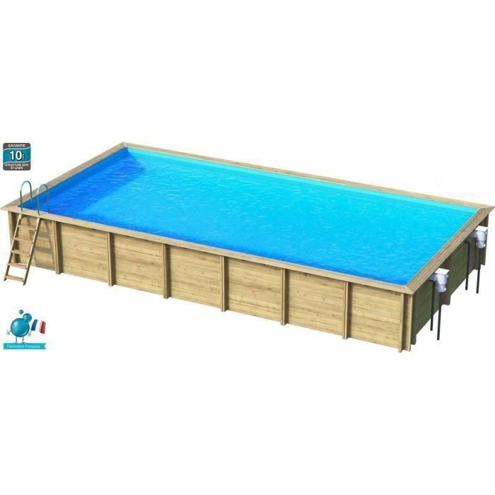 Weva piscine bois rectangle 10x5 m hauteur 1 46 m achat for Piscine bois occasion