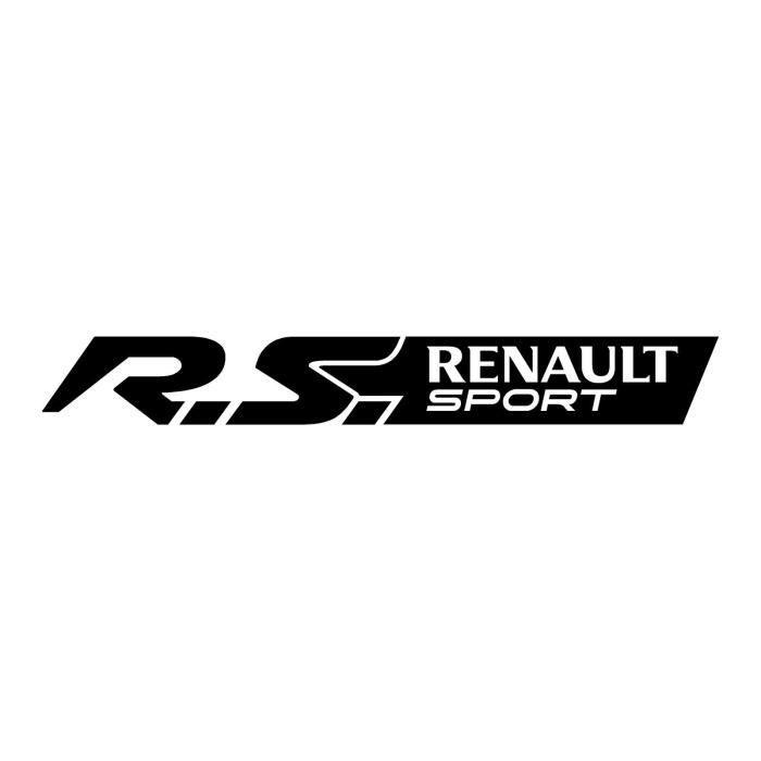 2 Sticker Autocollant RENAULT SPORT RS couleur Noir Clio Twingo Megane Sandero 30 cm - Par MXSPIRIT