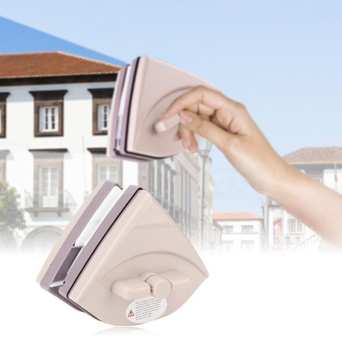 Nettoyant vitres Outil de nettoyage d'essuie-glace magnétique double face réglable 5-35 mm / 0,2-1,4 po