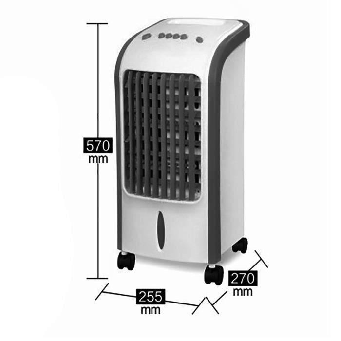 Three Ventilateur Refroidisseur D'air électrique Mobile pour Maison Bureau(Noir)