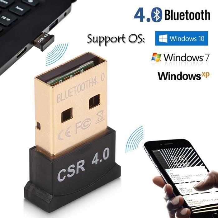 Bluetooth 4.0 Usb Dongle Adaptateur Csr 4.0 Pour Windows 10 8 7 Xp Vista Pc