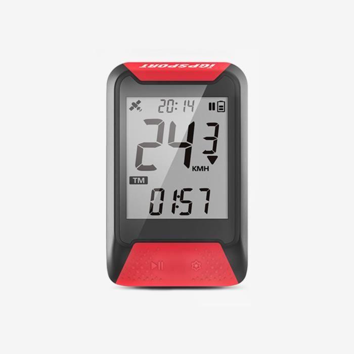 Compteur GPS - iGS130 - Compteur de Vélo GPS Simplifié - Couleur:Rouge