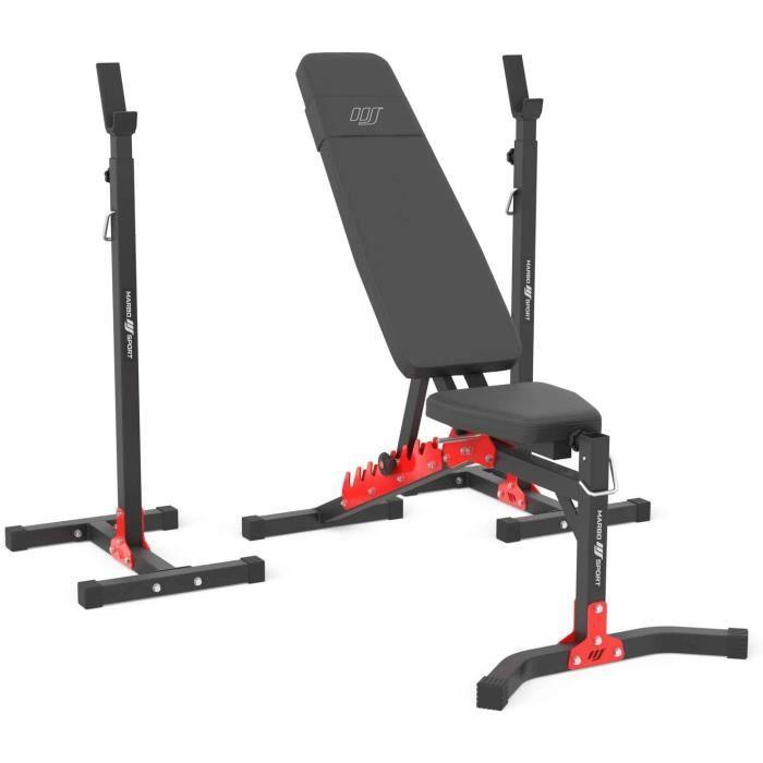 Marbo Sport Set MH19 2.0 - banc de musculation réglable MH-L115 + support de poids réglable en hauteur MH-S201 - Set 83kg - 113k102
