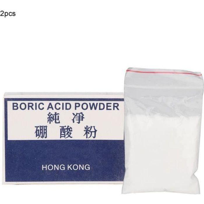 AIZ 2 Boîtes Poudre D'Acide Borique Outil De Nettoyage De Bijoux Soudage Accessoire De Traitement