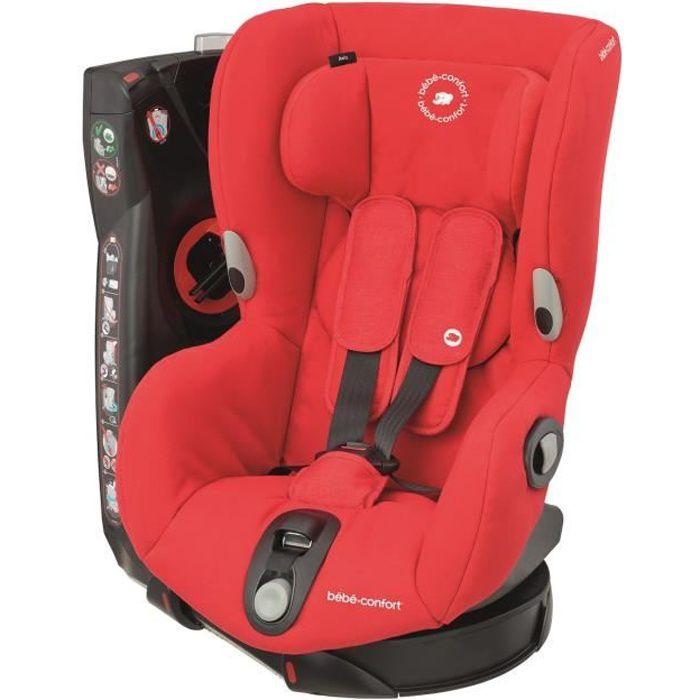 BEBE CONFORT Siège Auto Axiss, Pivotant, De 9 mois à 4 ans, inclinable, Nomad Red