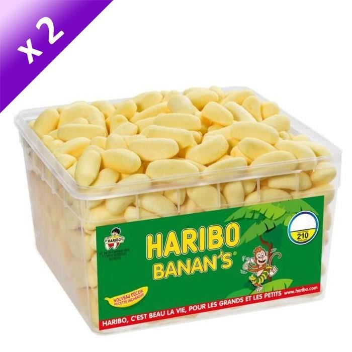 [LOT DE 2] HARIBO Bac 210 Banan's