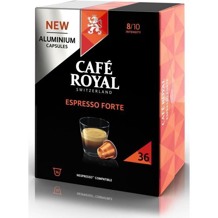 CAFE ROYAL Café Capsules en aluminium Espresso Forte - Lot de 5 x 36 capsules