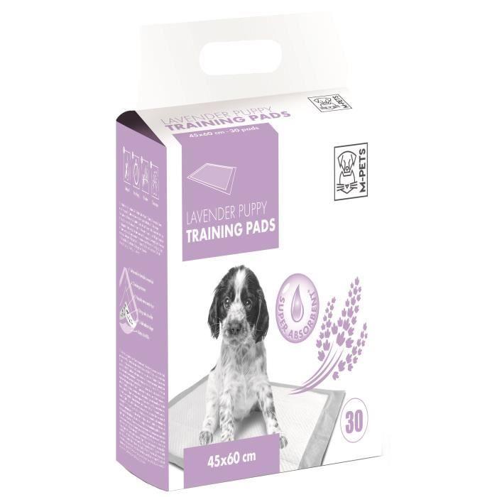 M-PETS Tapis d'apprentissage Lavender - 30 pièces - 45x60cm - Pour chiot