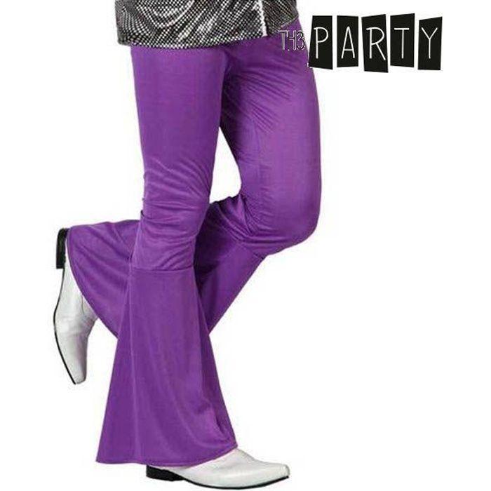 Pantalon pour homme disco couleur violette - Accessoire déguisement Taille - M/L