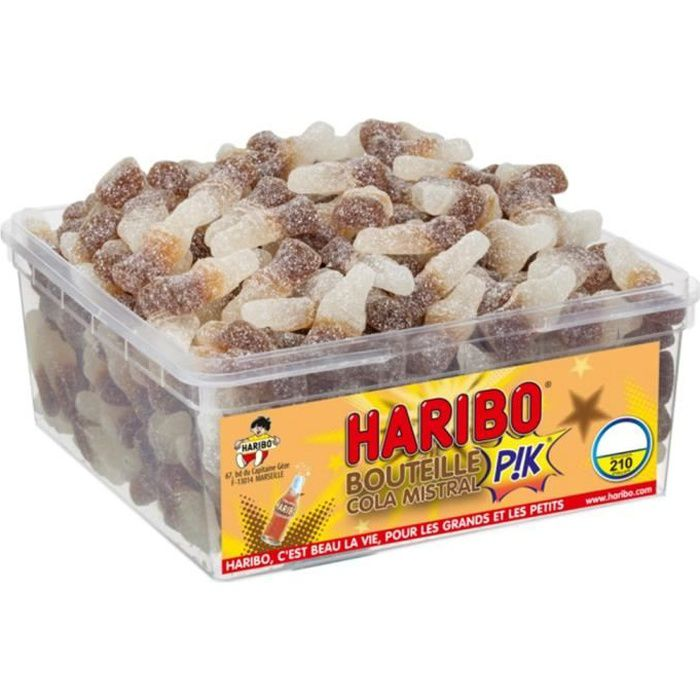 HARIBO Bac 210 Bouteille Cola Mistral Pik