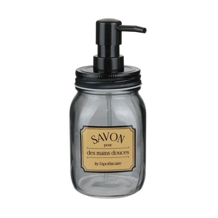 Distributeur de savon rétro Apothicaire - Noir