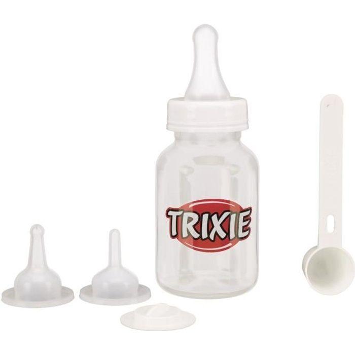 TRIXIE Set biberon - 120 ml - Transparent et blanc - Pour chien