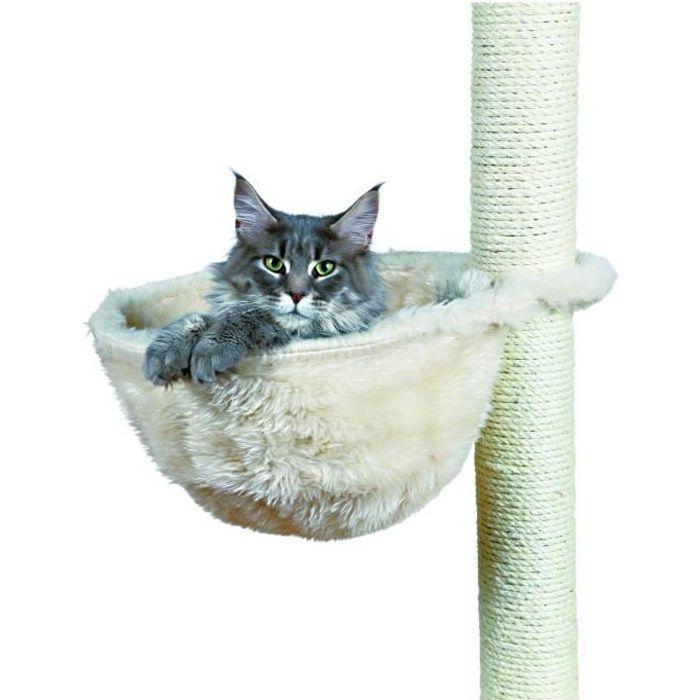 TRIXIE Sac confort pour arbre à chat ø 38 cm crème peluche