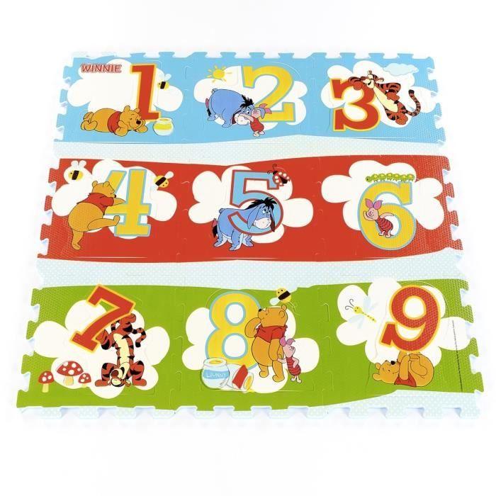 Disney Dalles de jeu Winnie 123 Tricolore