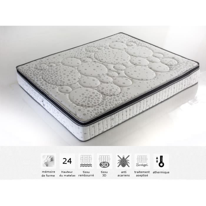 matelas bubble 180x200 m moire de forme 24 cm d 39 p achat vente matelas cdiscount. Black Bedroom Furniture Sets. Home Design Ideas