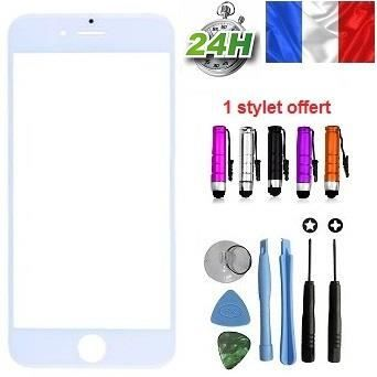 vitre apple iphone 6 plus blanc kit outils stylet adhesif offert pour reparer votre ecran lcd. Black Bedroom Furniture Sets. Home Design Ideas