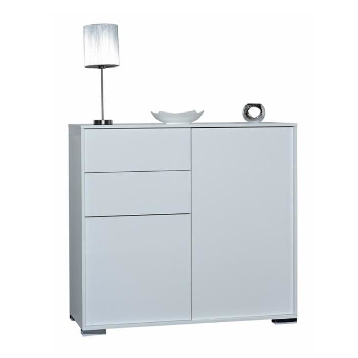 buffet blanc 2 portes 2 tiroirs navo achat vente buffet bahut buffet blanc 2 portes 2. Black Bedroom Furniture Sets. Home Design Ideas