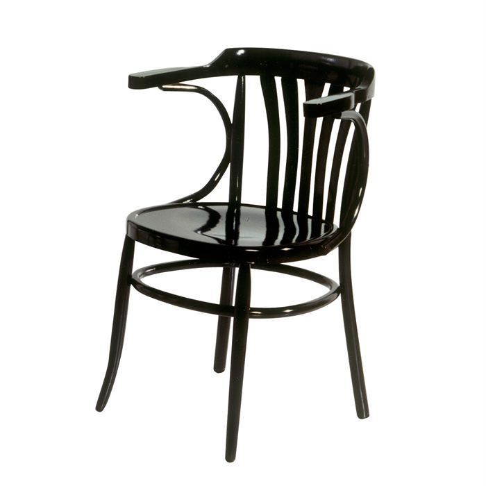 chaise bistrot pompeyo en bois h tre noir achat vente chaise mati re de la structure bois. Black Bedroom Furniture Sets. Home Design Ideas