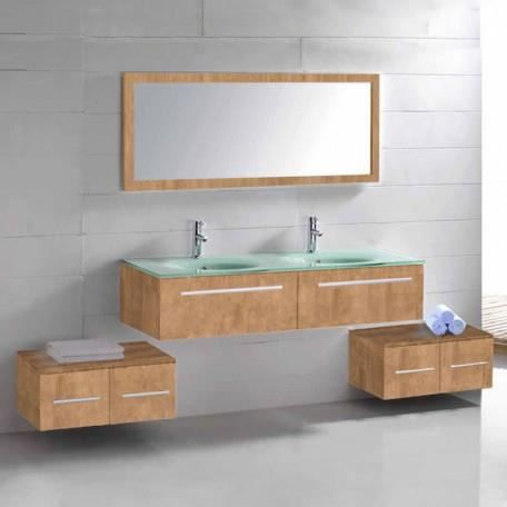 sd682 2bn meuble salle de bain coloris bois na achat vente ensemble meuble sdb sd682 2bn. Black Bedroom Furniture Sets. Home Design Ideas