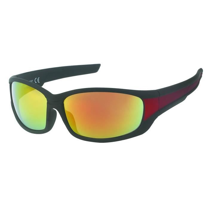 Lunettes sport miroirs-Kost 5191 fluo jaune