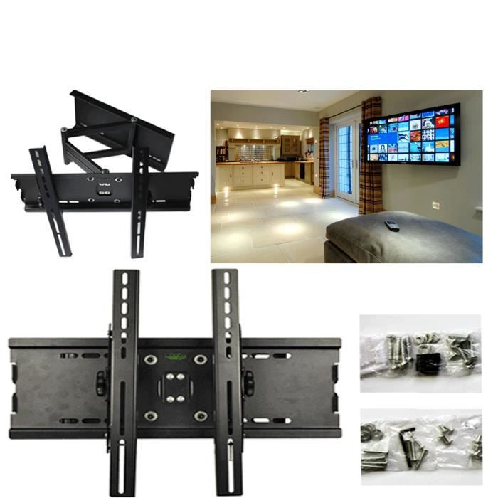 support mural id al tv lcd led plasma 3d inclinable pivote. Black Bedroom Furniture Sets. Home Design Ideas