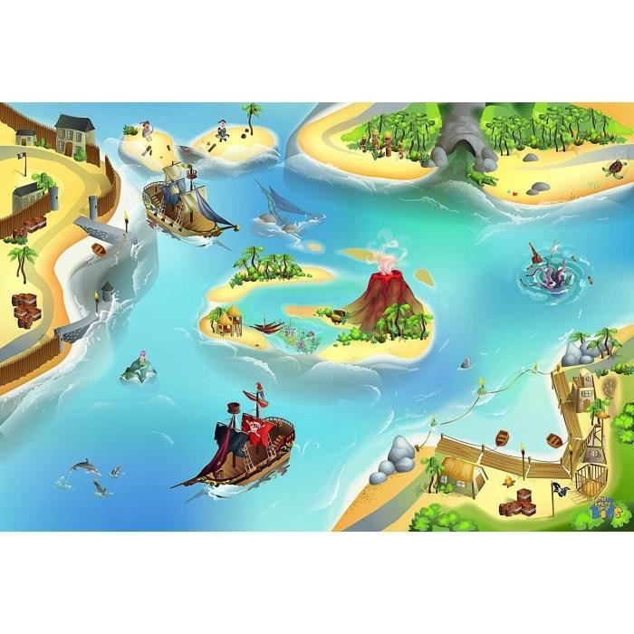 tapis de jeux 100x150cm les pirates 100 p achat vente tapis de jeu cdiscount. Black Bedroom Furniture Sets. Home Design Ideas