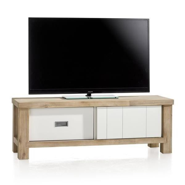 meuble tv 130 cm acacia massif istrana h h achat vente. Black Bedroom Furniture Sets. Home Design Ideas