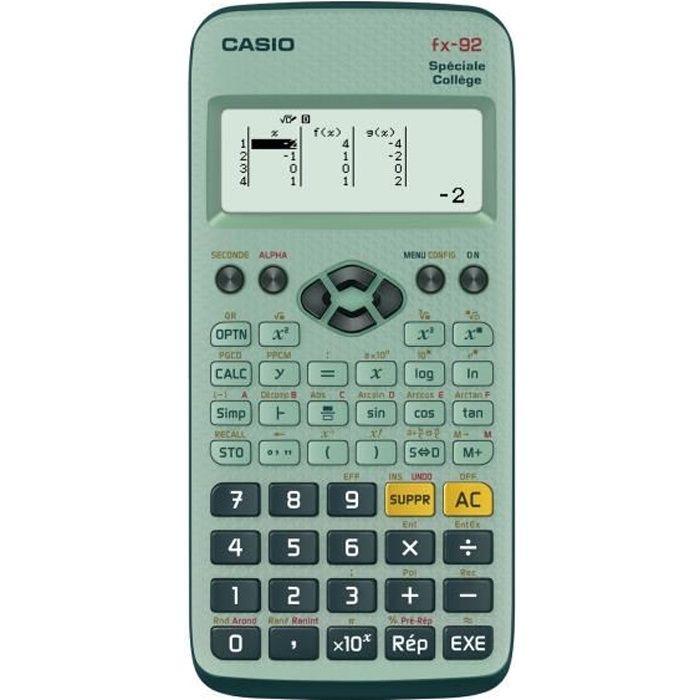 CASIO Calculatrice Fx 92+ Collège Scientifique Graphique et Formelle