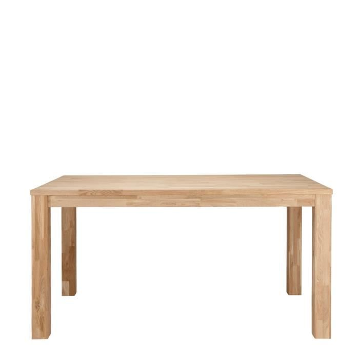 table 224 manger en ch 234 ne massif brut dutchwood dimensions 200x90 cm achat vente table a
