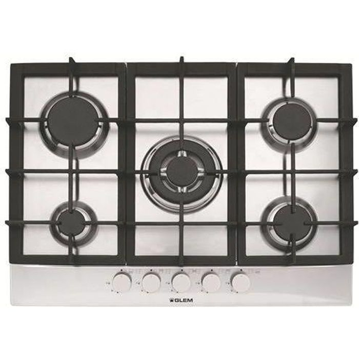 plaque de cuisson gaz 70cm gt755ix achat vente plaque gaz cdiscount. Black Bedroom Furniture Sets. Home Design Ideas