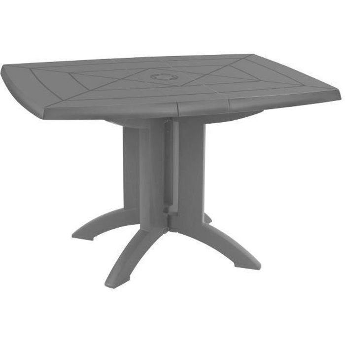 Table de jardin pliante vega grosfillex anthracite for Table pliante murale 4 personnes