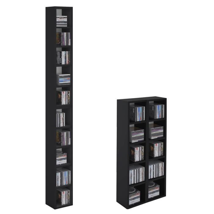 etagere cd dvd achat vente etagere cd dvd pas cher soldes d s le 10 janvier cdiscount. Black Bedroom Furniture Sets. Home Design Ideas