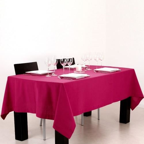 nappe rectangulaire coton framboise achat vente nappe de table cdiscount. Black Bedroom Furniture Sets. Home Design Ideas