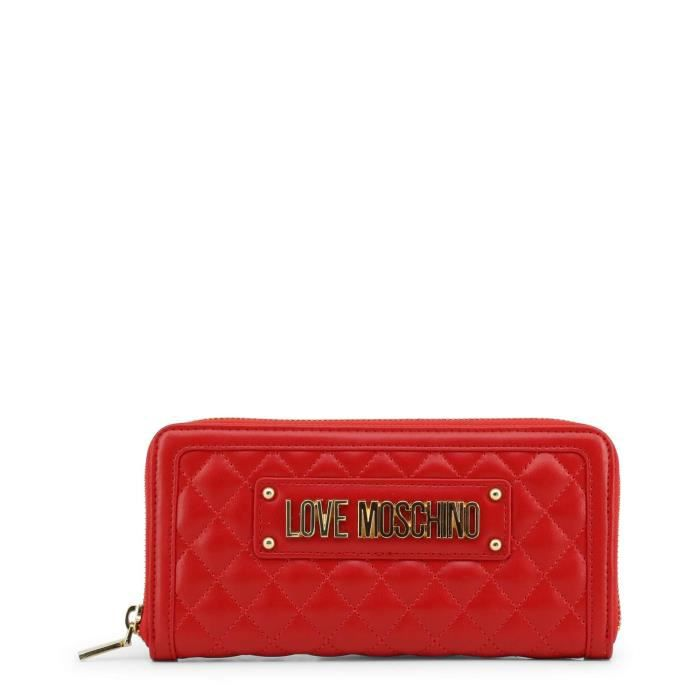 Love Femmejc5640pp07ka Portefeuilles 0500Rouge Moschino Pour E9YH2IWD