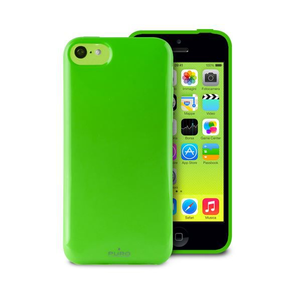 coque apple iphone 5c anti shock verte puro