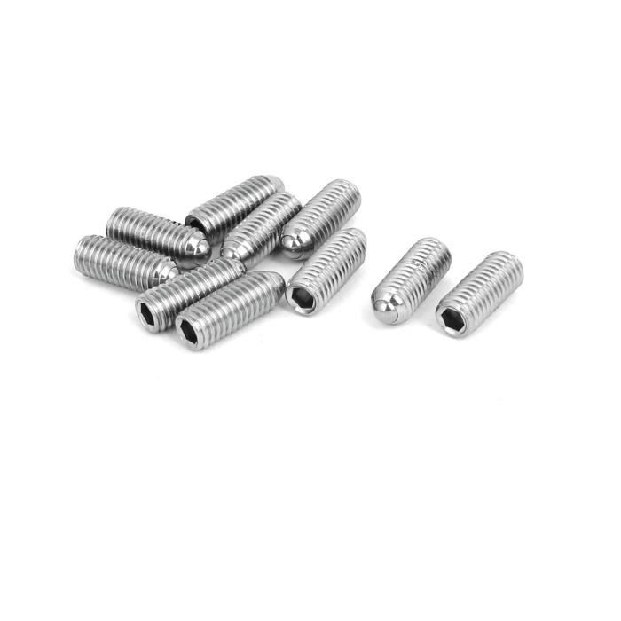 M8x20mm entièrement acier inoxydable 304 Filétage vis boulon vis tête 10pcs