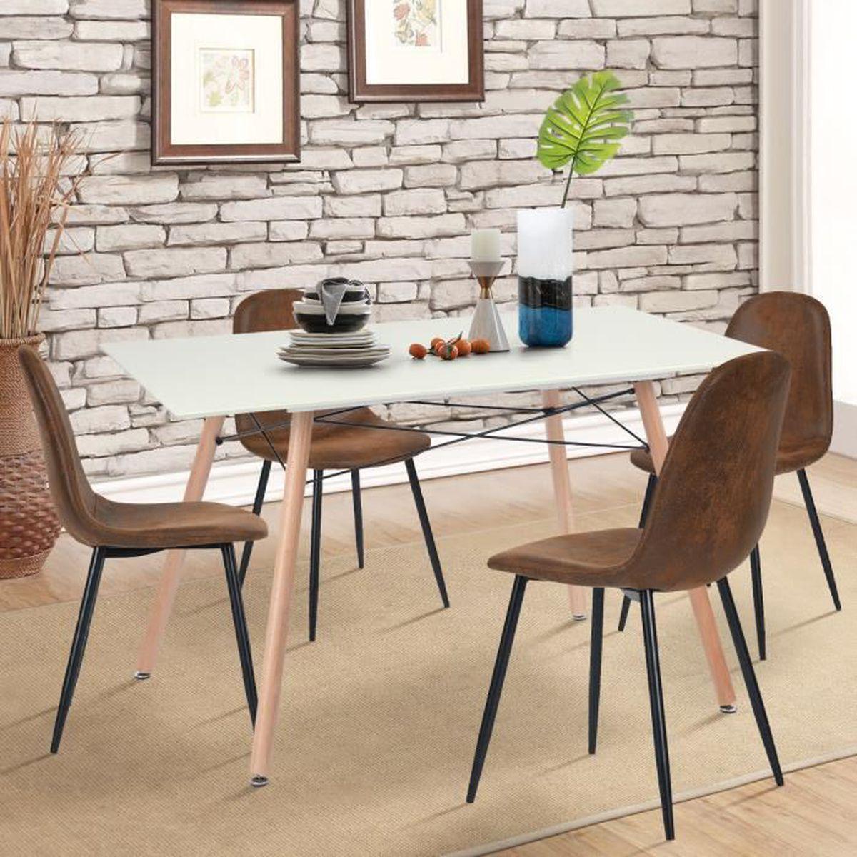 table a manger scandinave design pour 4