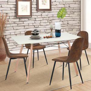 TABLE À MANGER SEULE Table à manger Scandinave Design pour 4-6 personne