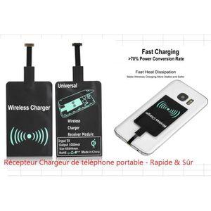 CHARGEUR - ADAPTATEUR  Récepteur chargeur sans fil pour iPhone / HUAWEI /