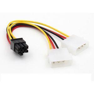 CARTE GRAPHIQUE INTERNE ATX IDE Molex Power Dual - Câble adaptateur pour c
