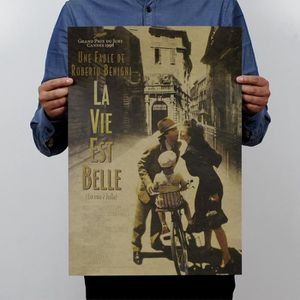 AFFICHE - POSTER Retro Life Is Beautiful Poster Affiche Murale Déco