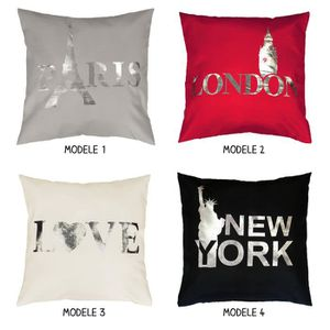 housse de coussin new york achat vente housse de coussin new york pas cher cdiscount. Black Bedroom Furniture Sets. Home Design Ideas