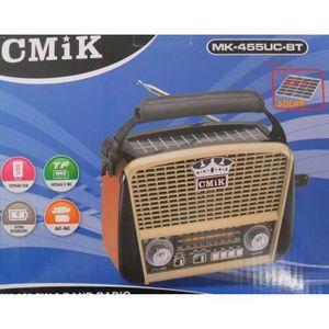 RADIO CD CASSETTE LaPetiteCaverne - Radio Solaire Bluetooth Vintage