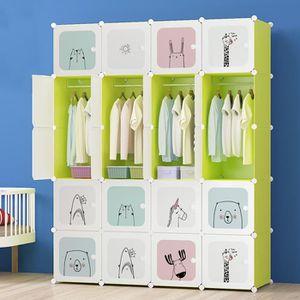 ARMOIRE DE CHAMBRE Armoire pour Enfants Plastique Assembler la Garde-