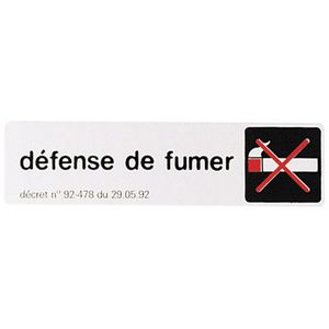 plaque de signalisation defense de fumer achat vente plaque de porte aluminium cdiscount. Black Bedroom Furniture Sets. Home Design Ideas