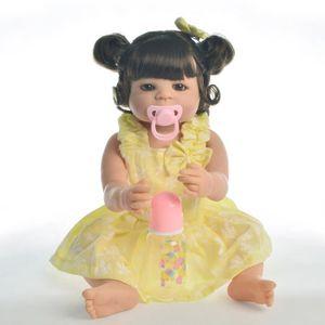 POUPÉE 22'' 55 cm Reborn bébé fille poupée corps entier S