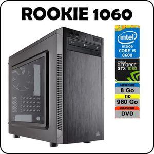 UNITÉ CENTRALE  PC ROOKIE 1060 Intel Core i5 8600 / 8 Go DDR4 / SS