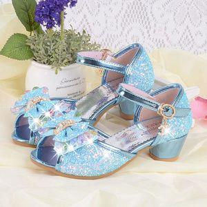Enfant Bébé Filles Enfants sandales nœud perle cristal roman Princesse Chaussures