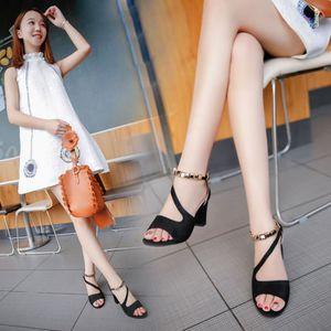 ESCARPIN Sandales d'été Poisson Bouche Chaussures Peep-les