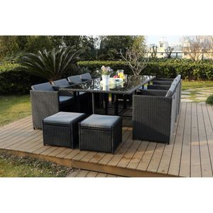 table de jardin 12 personnes achat vente table de jardin 12 personnes pas cher les soldes. Black Bedroom Furniture Sets. Home Design Ideas